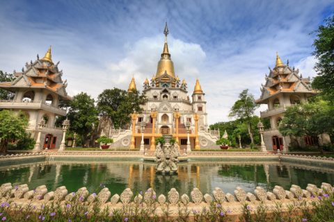 Buu Long Pagoda in Saigon
