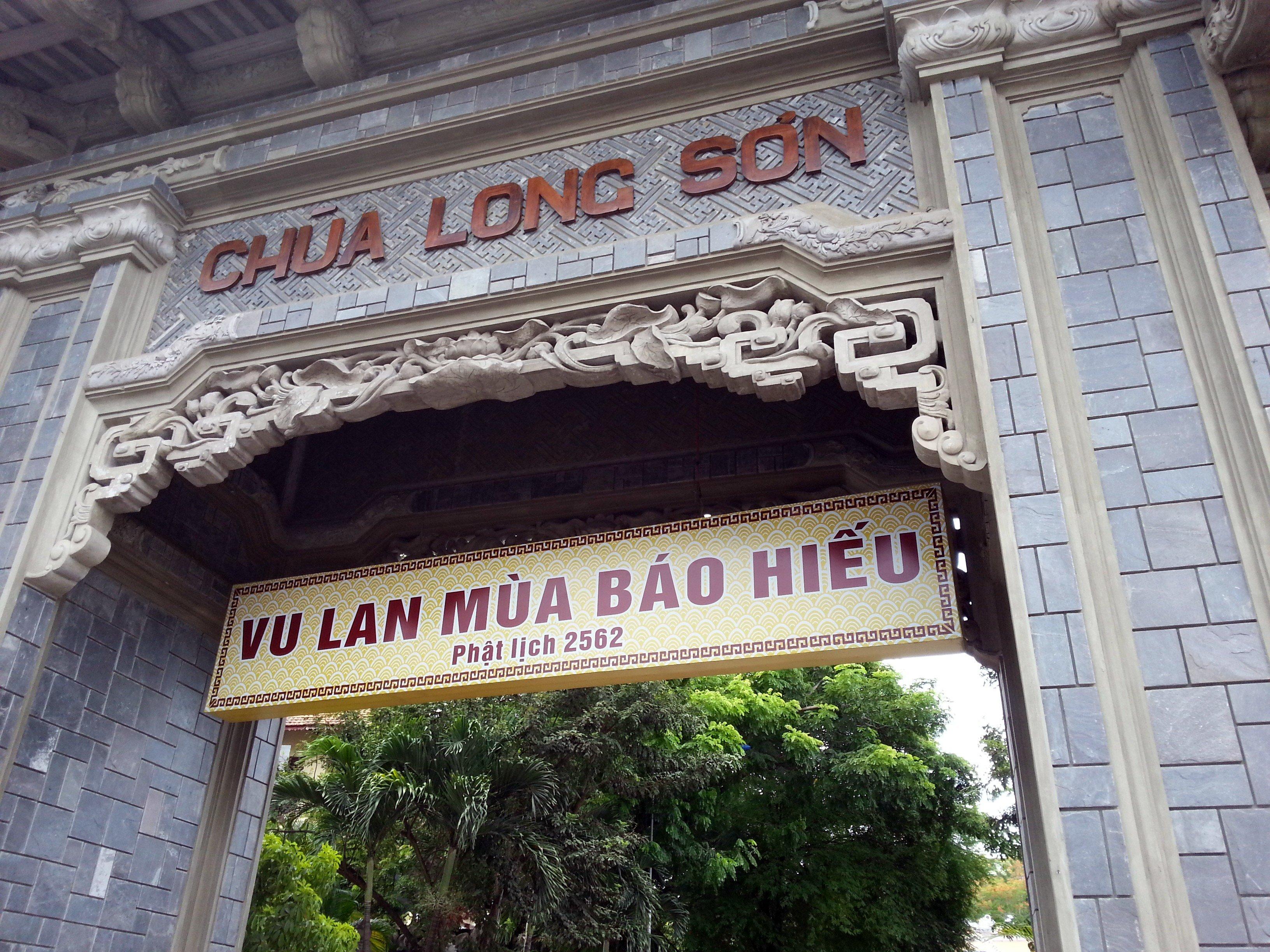 Entrance to Long Son Pagoda
