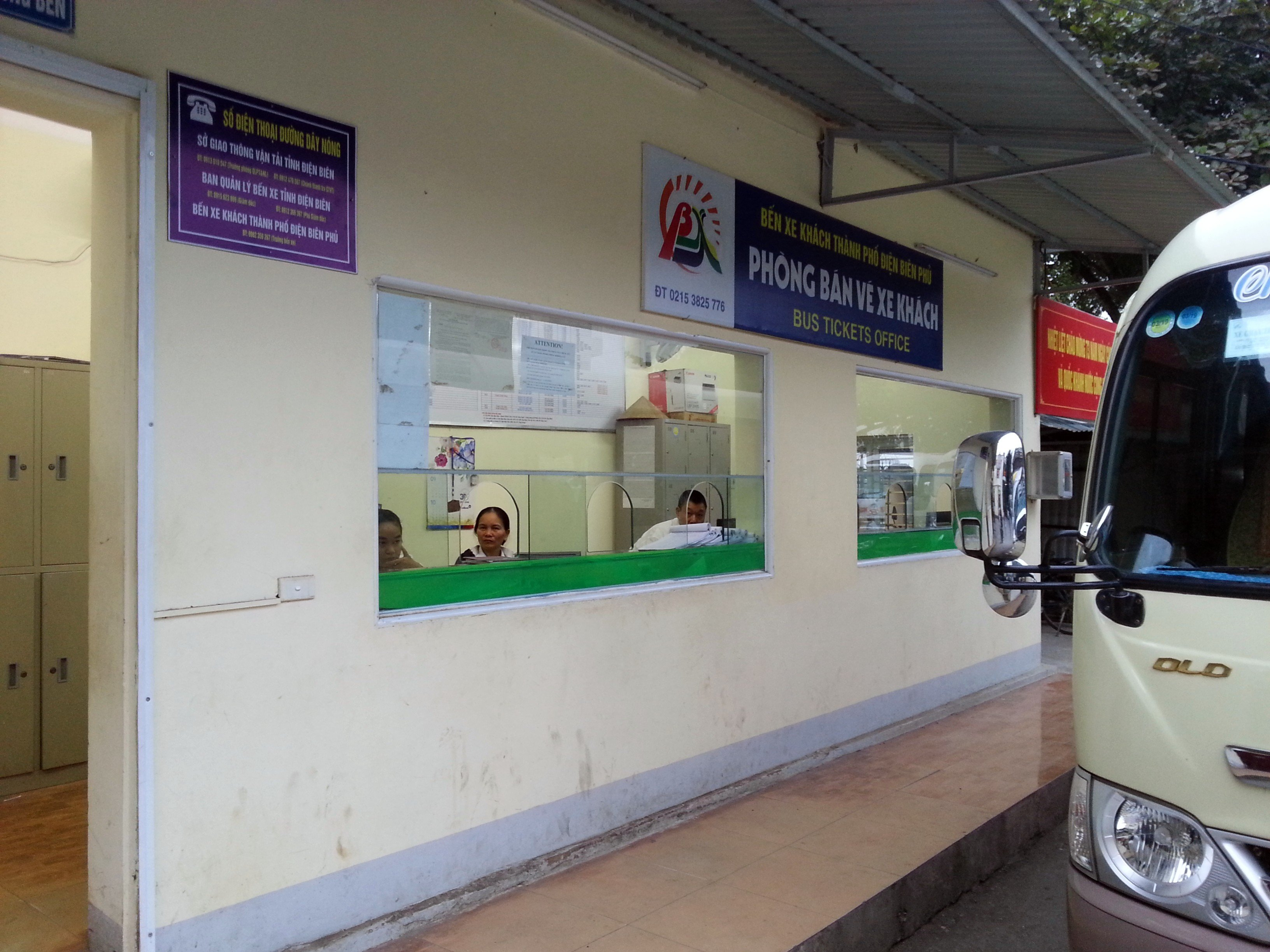 Ticket Counter at Dien Bien Phu Bus Station