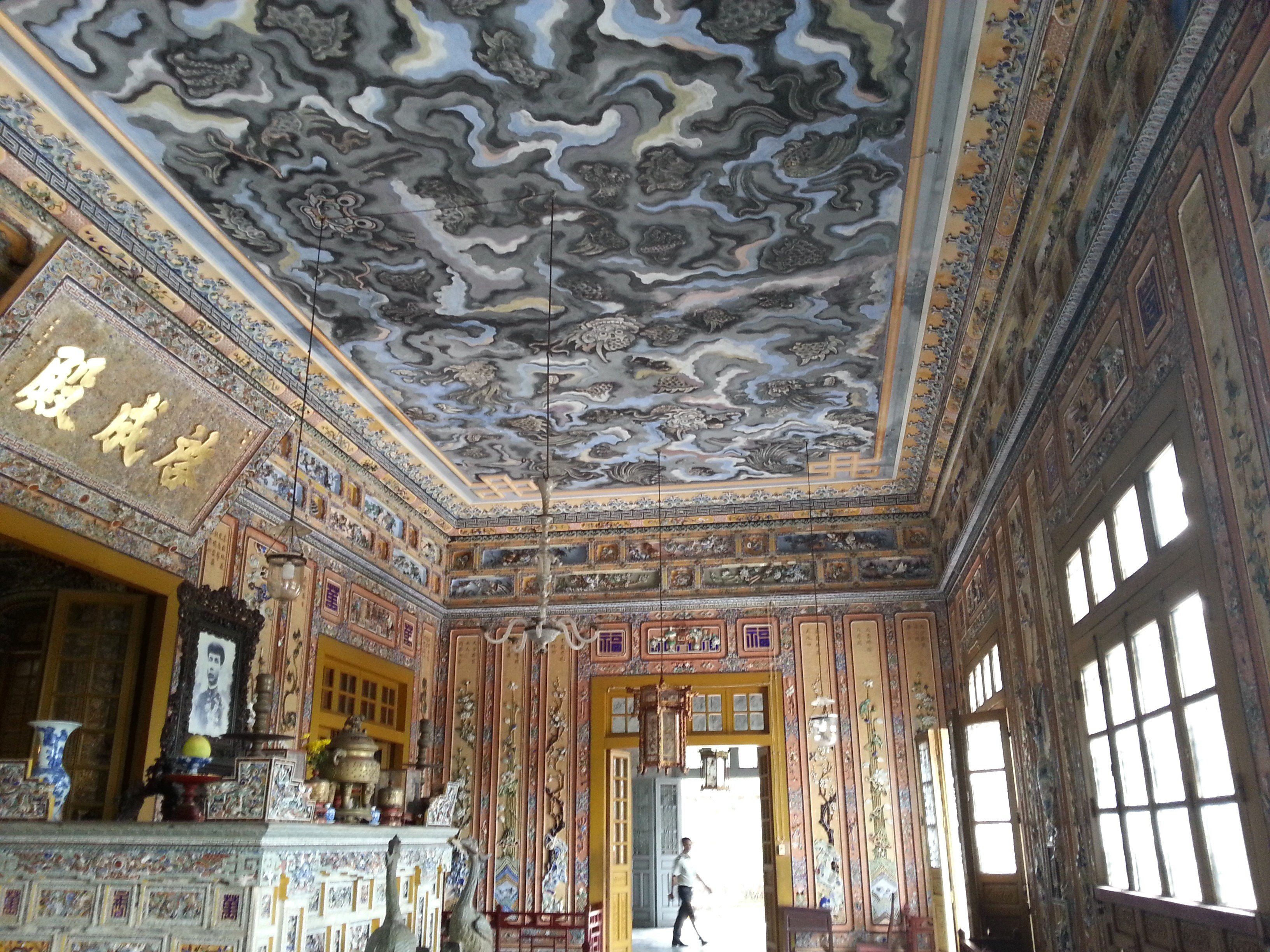 Baroque style interior of the Thien Dinh Palace