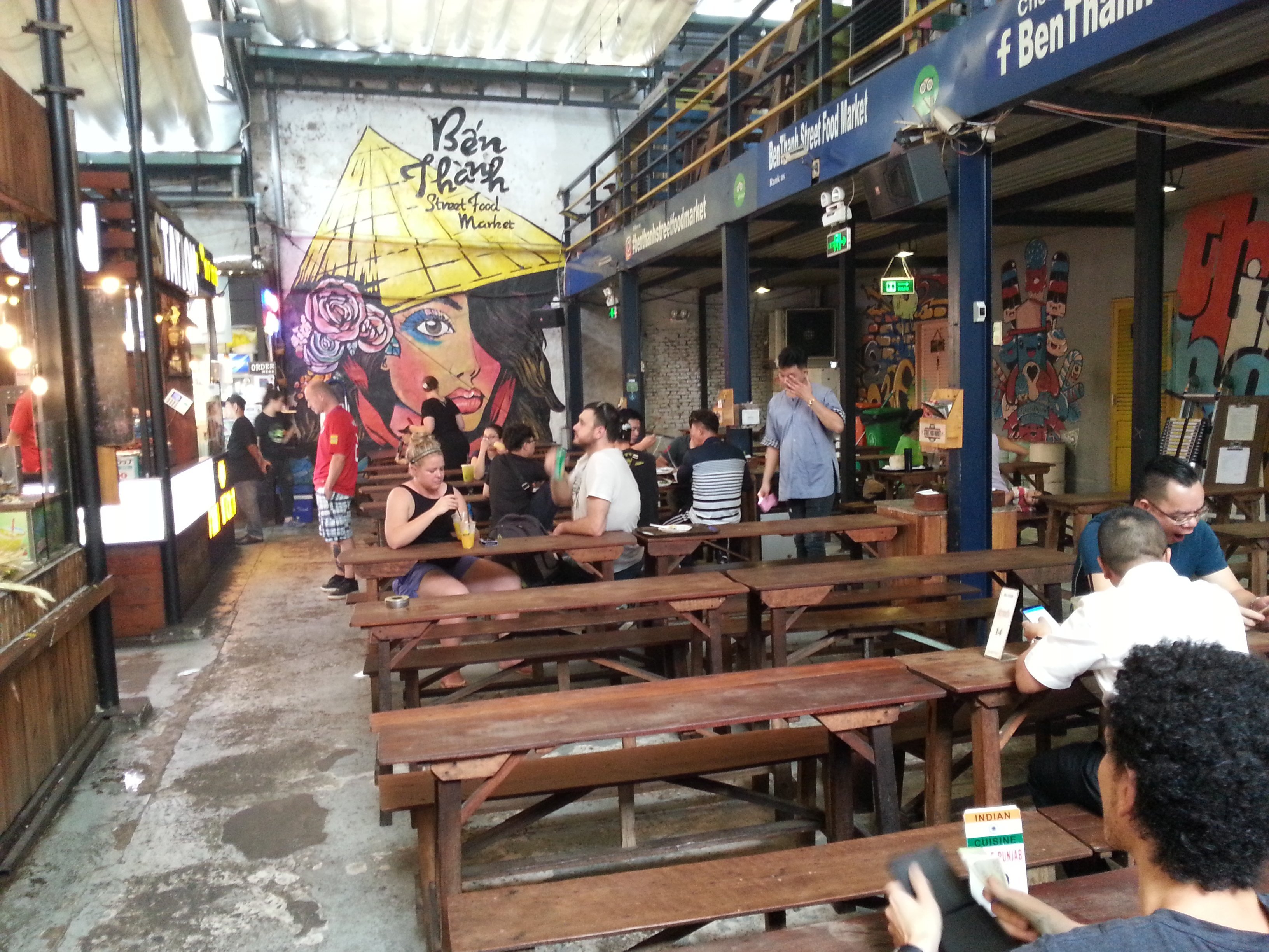 Artwork at Ben Thanh Street Food Market