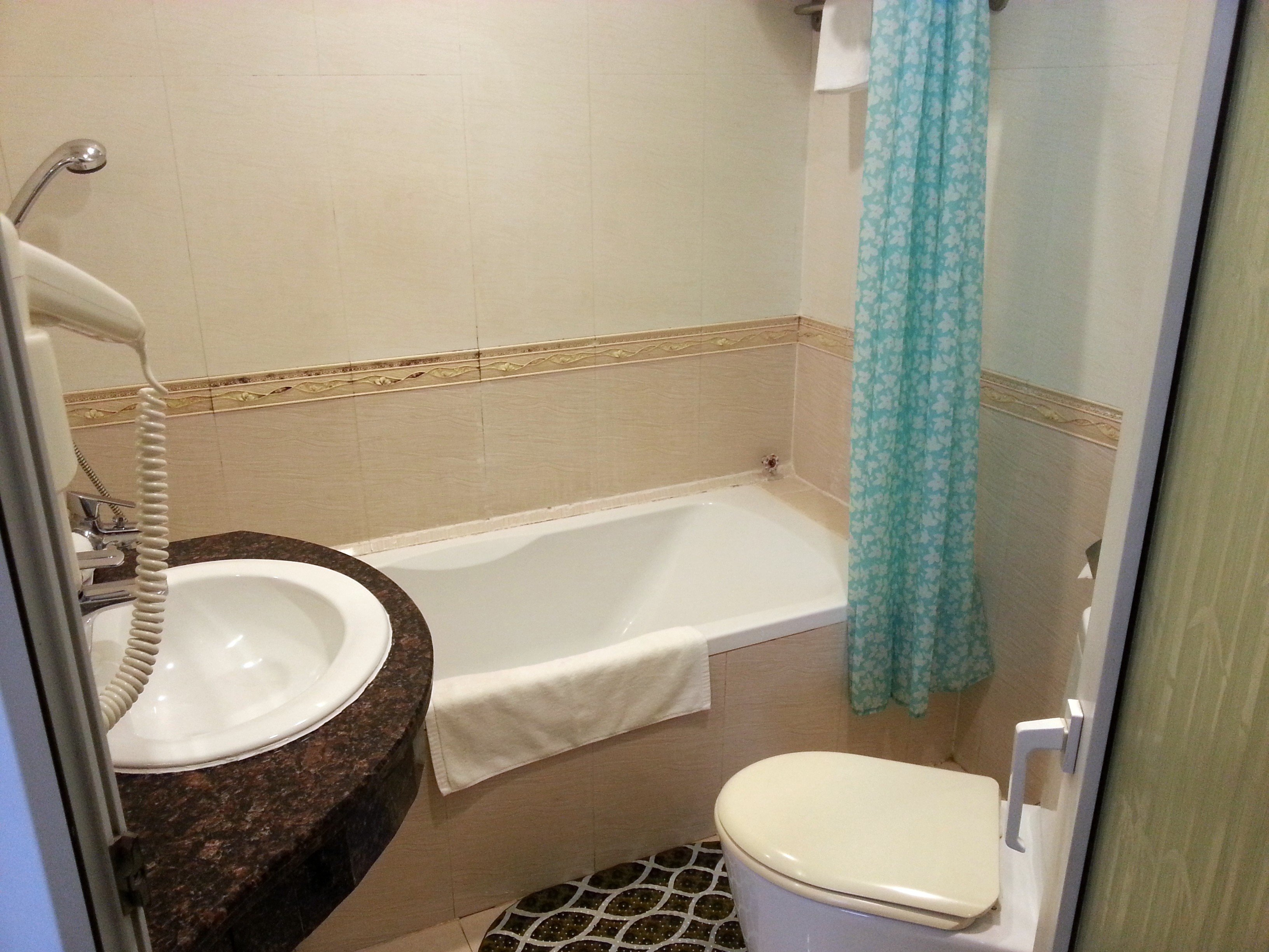 Bathroom at the Prince II Hotel