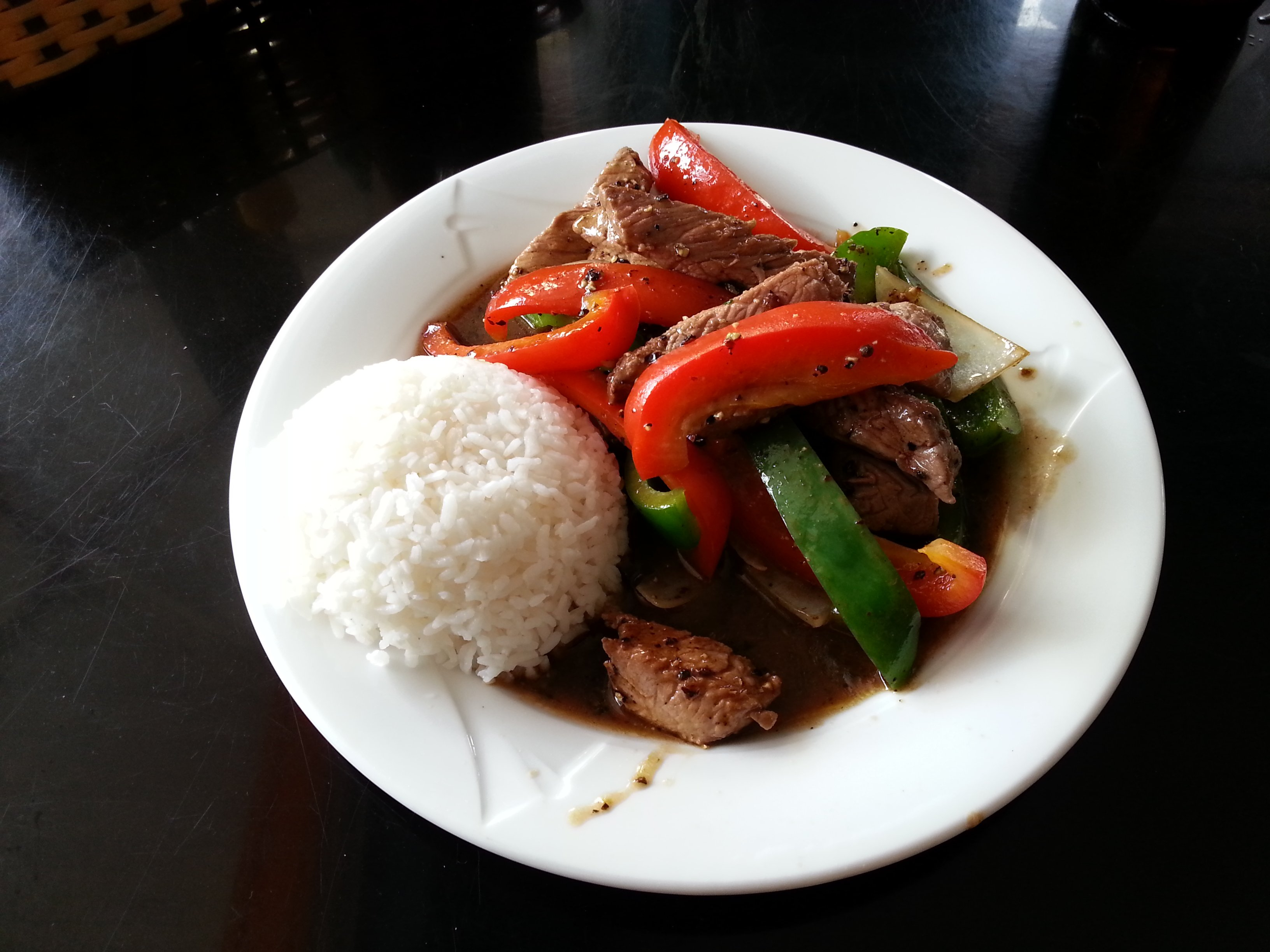 Beef in pepper sauce at Xuan Trang Restaurant