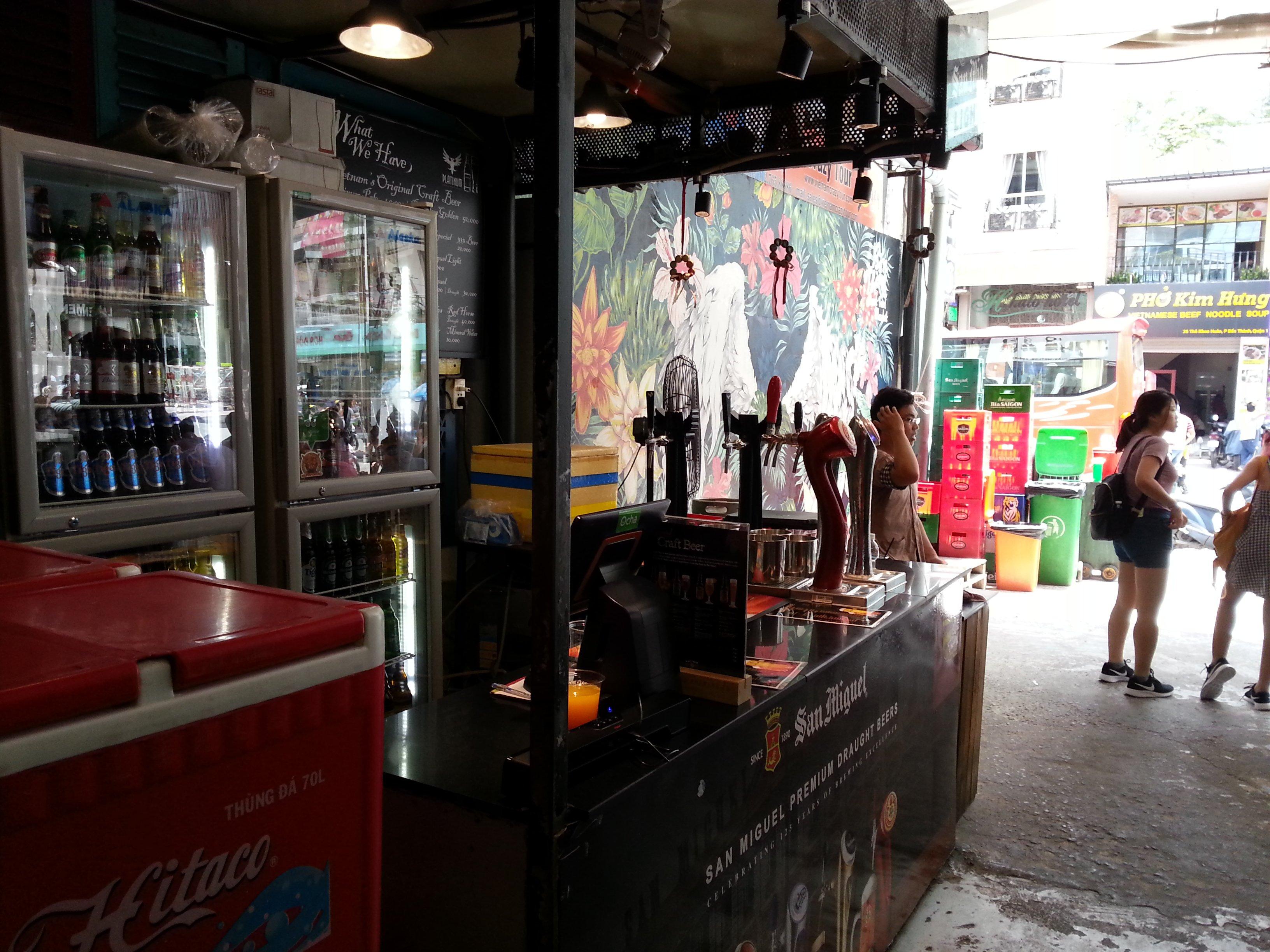 Beer station at Ben Thanh Street Food Market