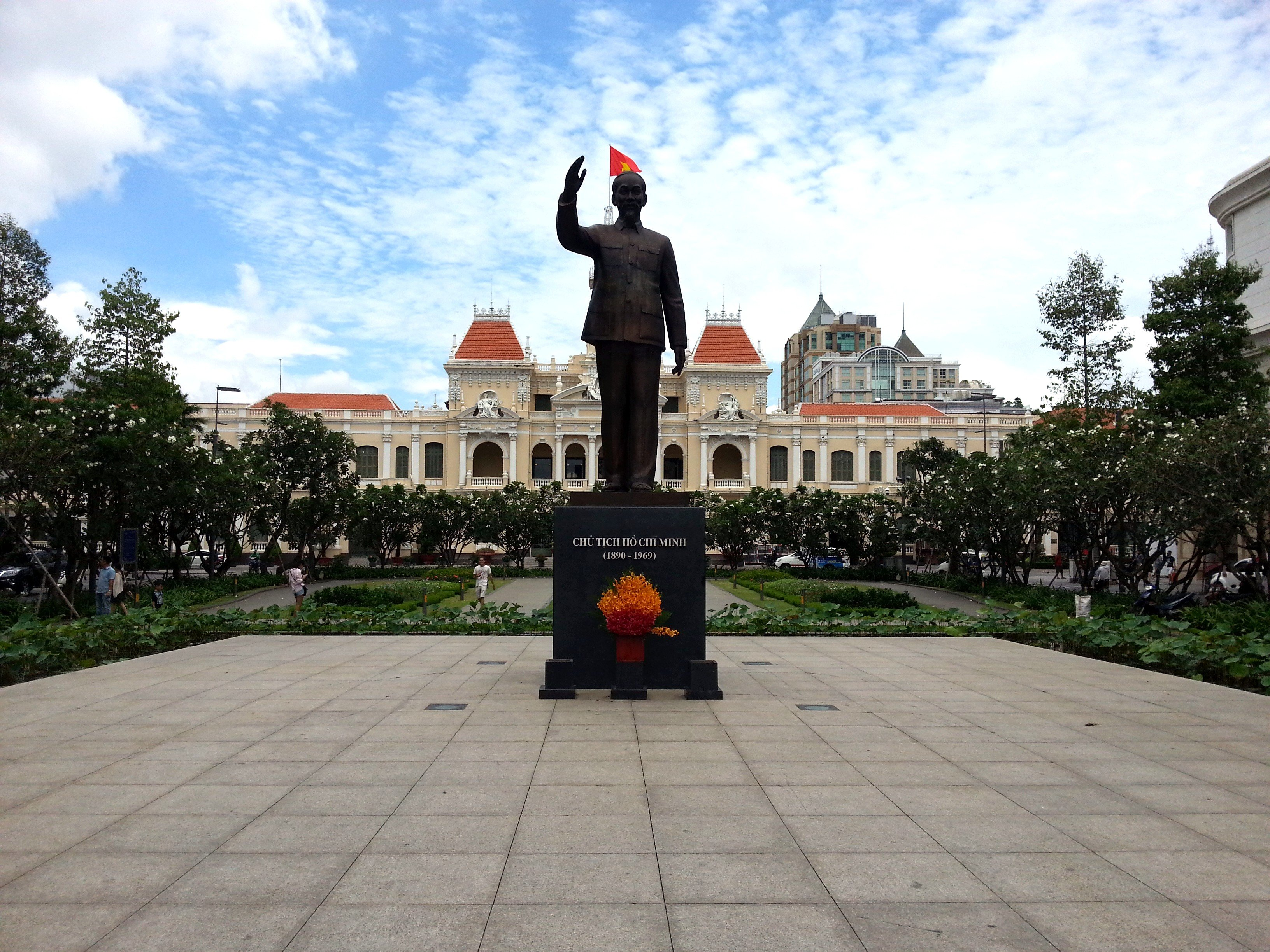 Ho Chi Minh Statue in front of Saigon City Hall