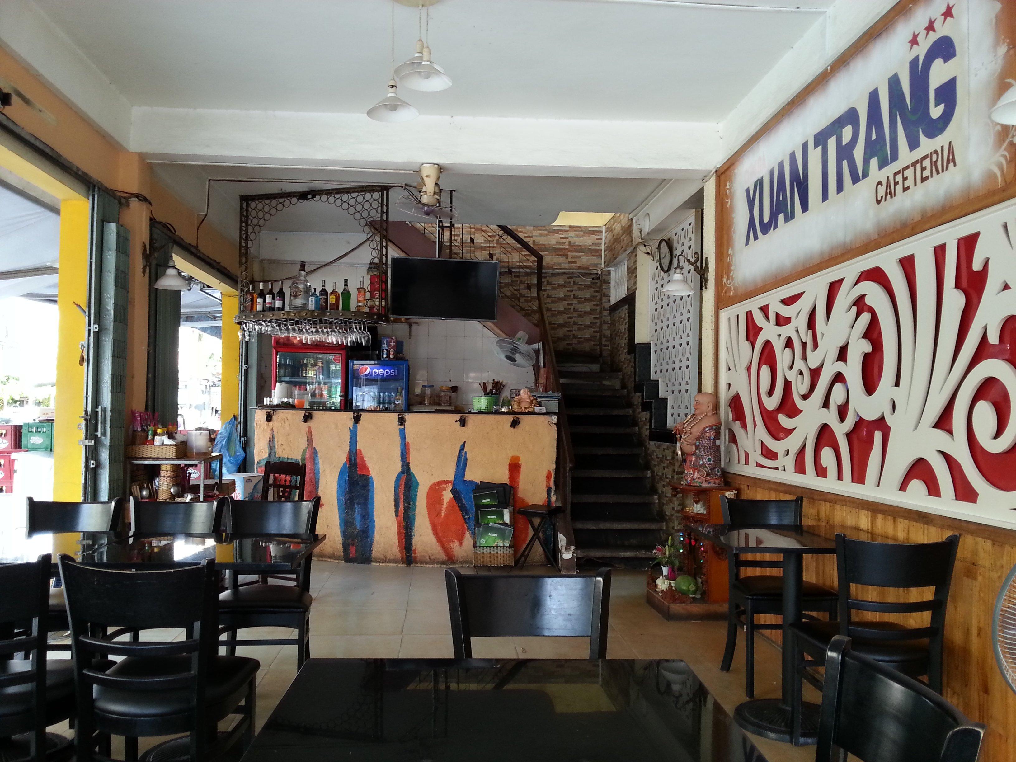 Inside Xuan Trang Restaurant