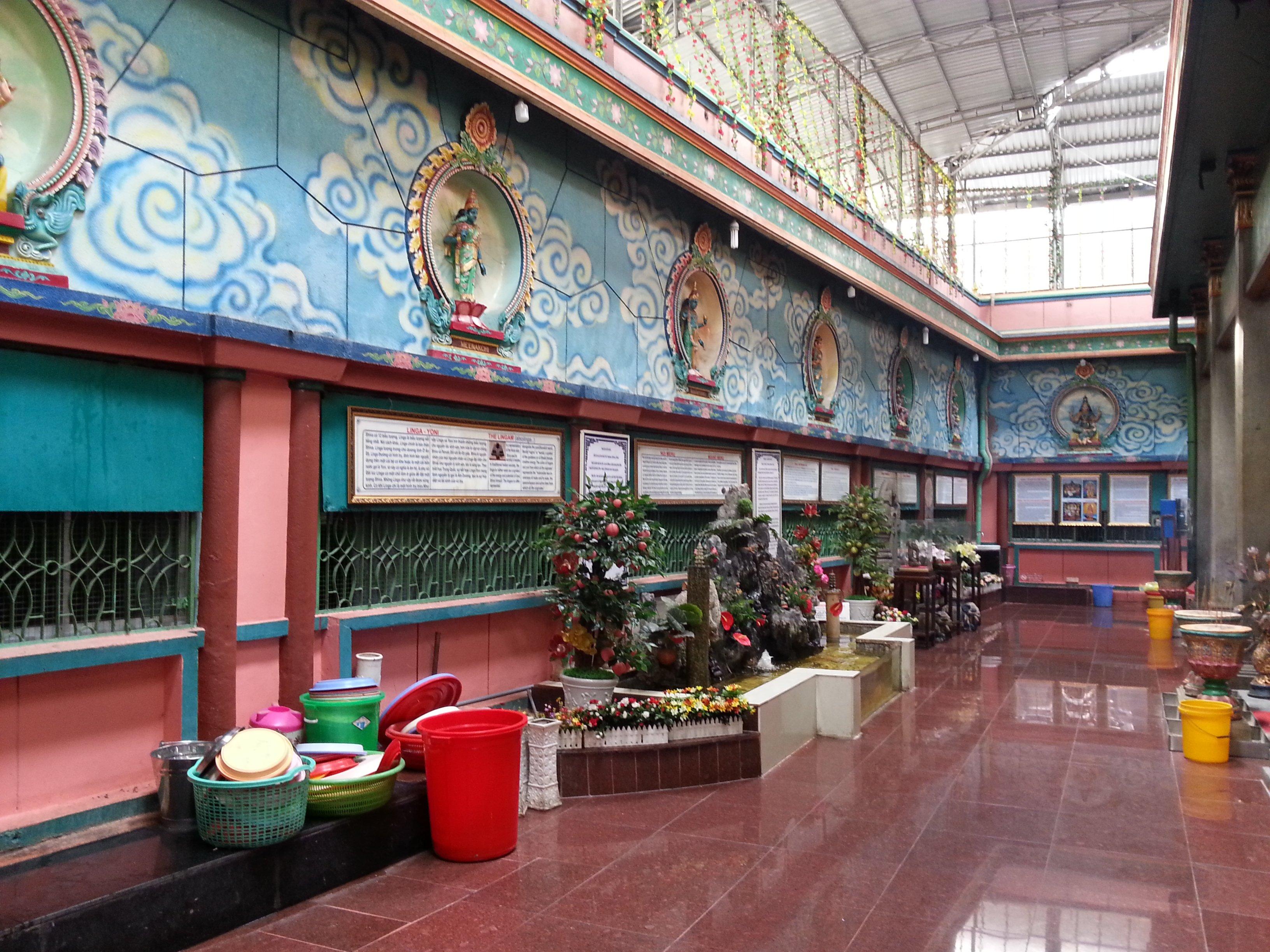 Inside the Mariamman Temple