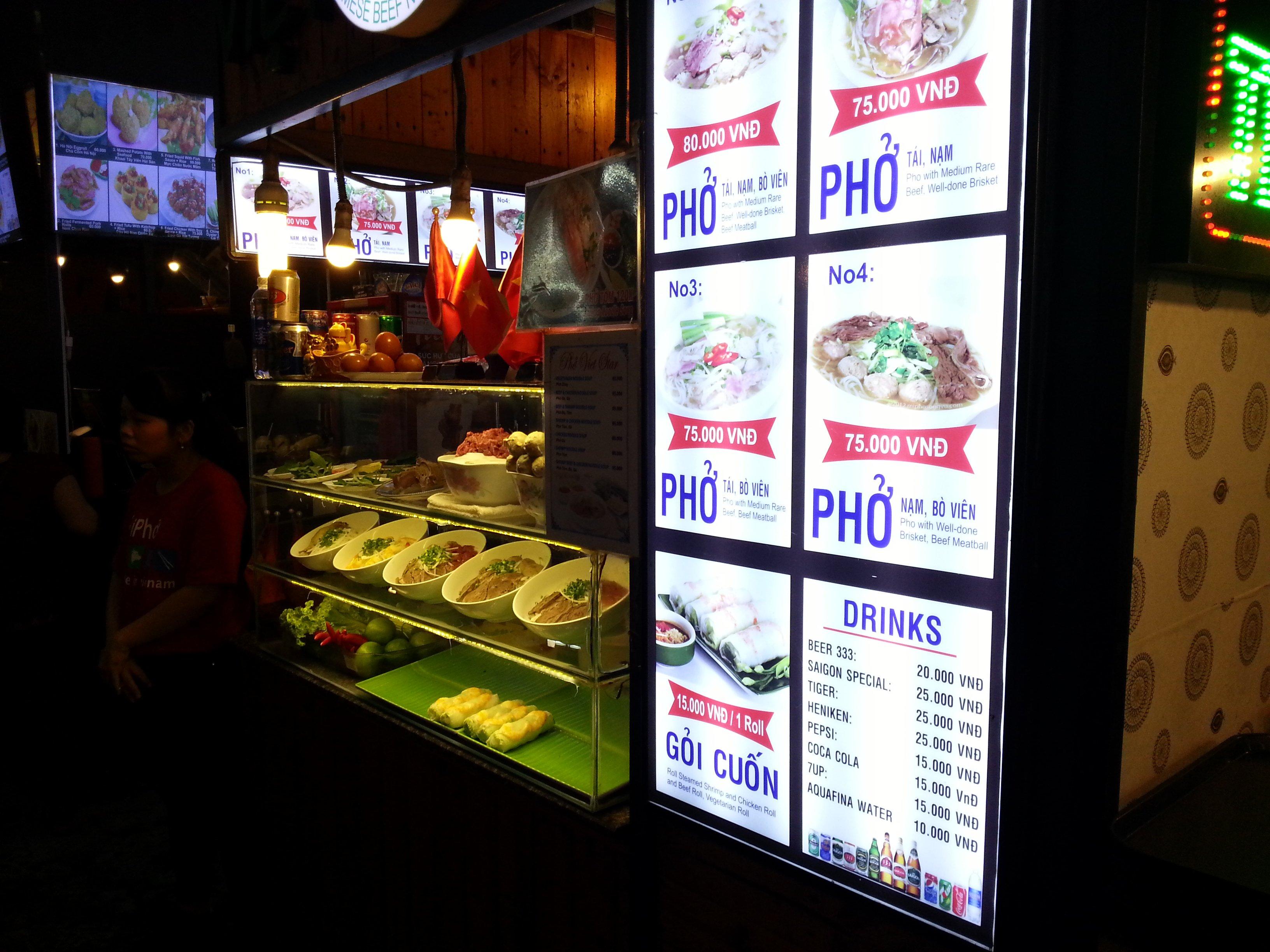 Pho stall at Ben Thanh Street Food Market