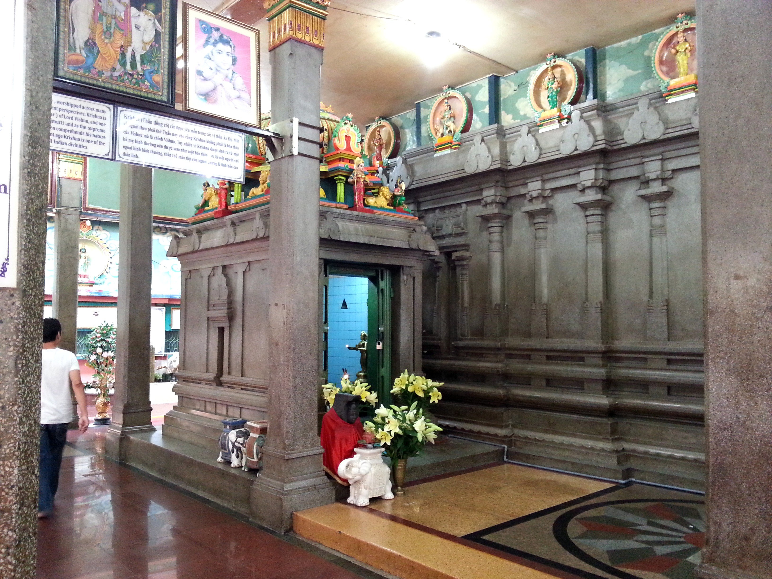 Secondary shrine at the Mariamman Temple
