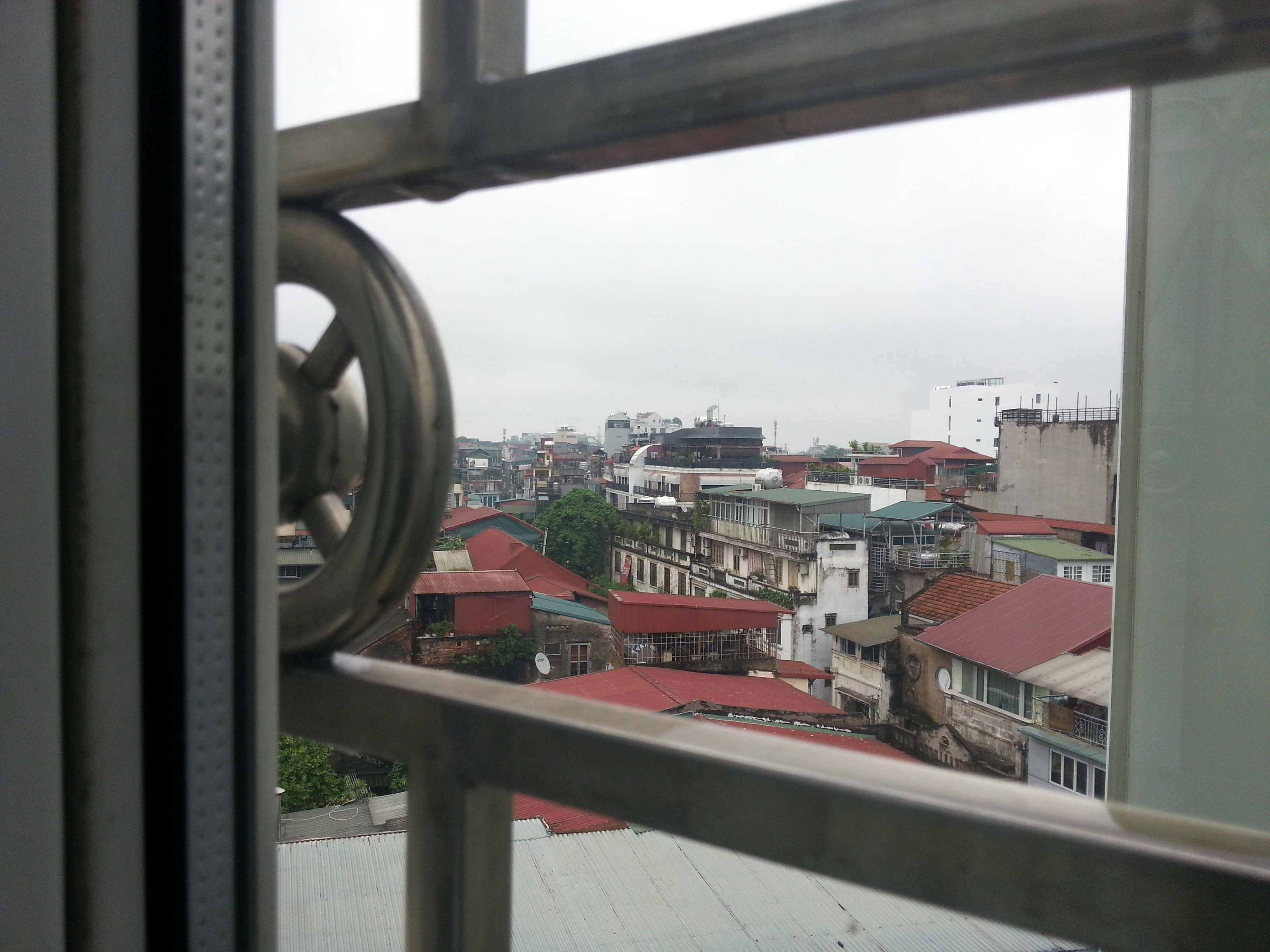 View from the bedroom at the Prince II Hotel