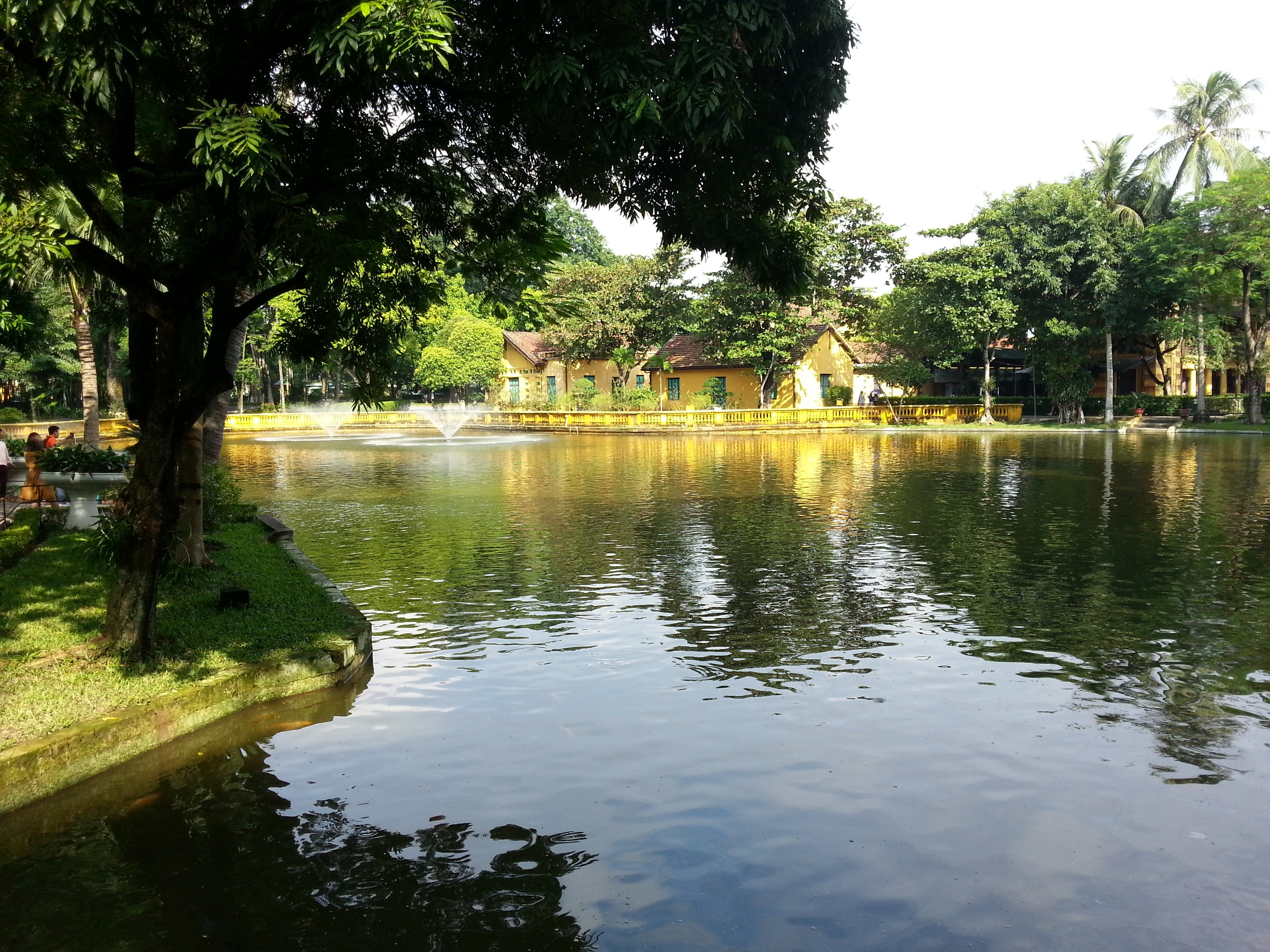 Carp pond at the Presidential Palace