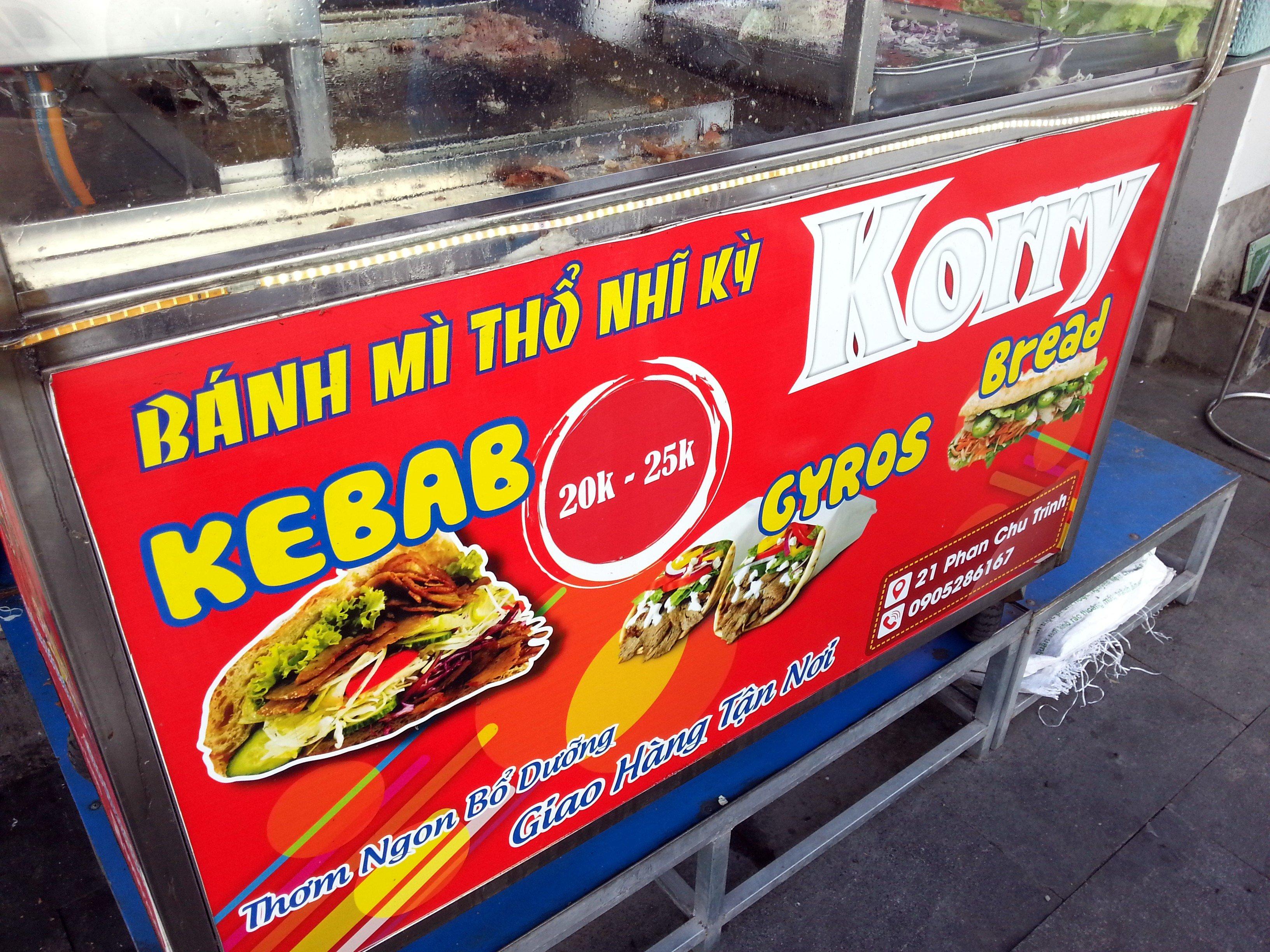 Kebab Banh mi stall in Nha Trang