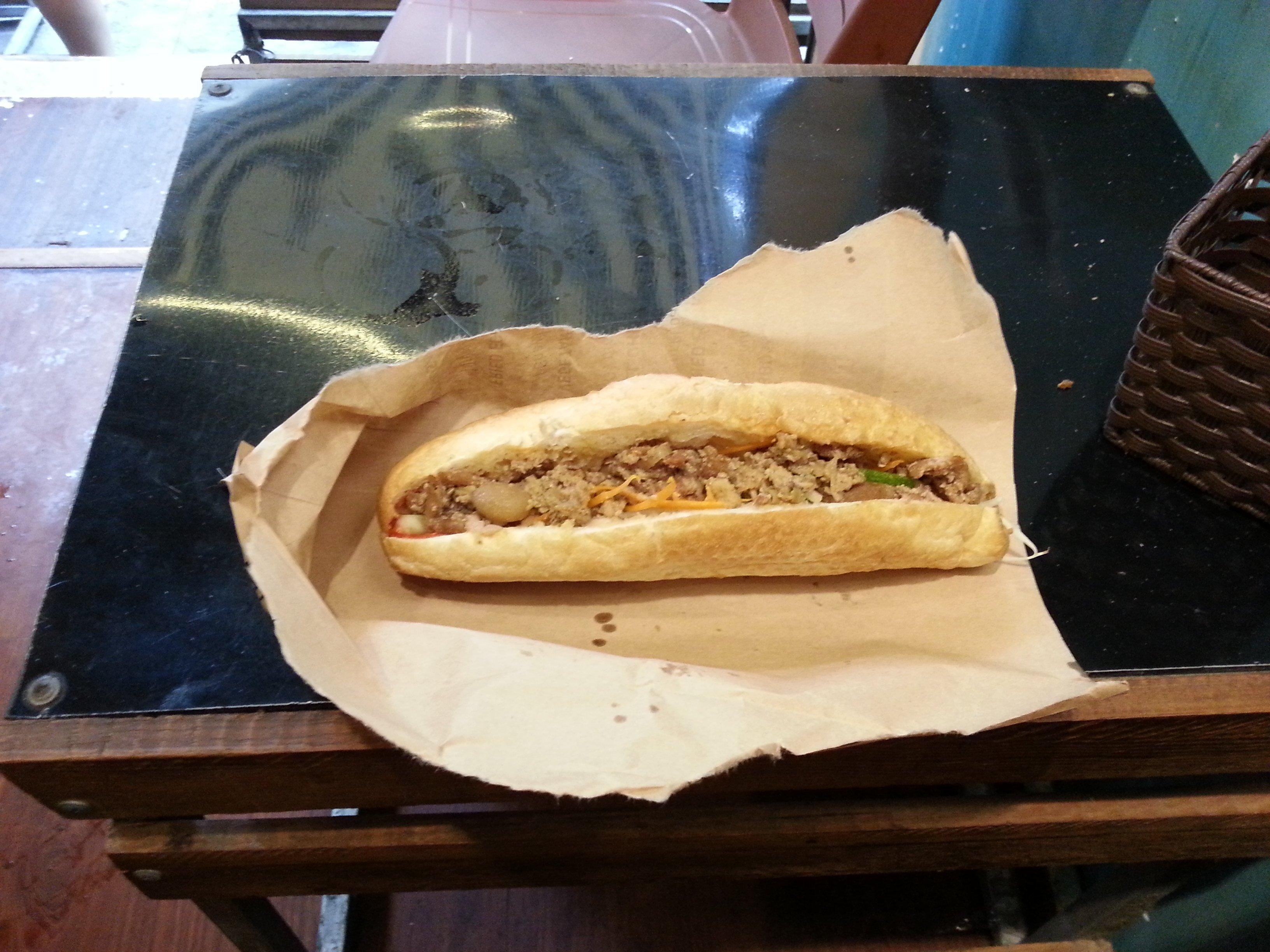 Mince pork Banh Mi in Hanoi