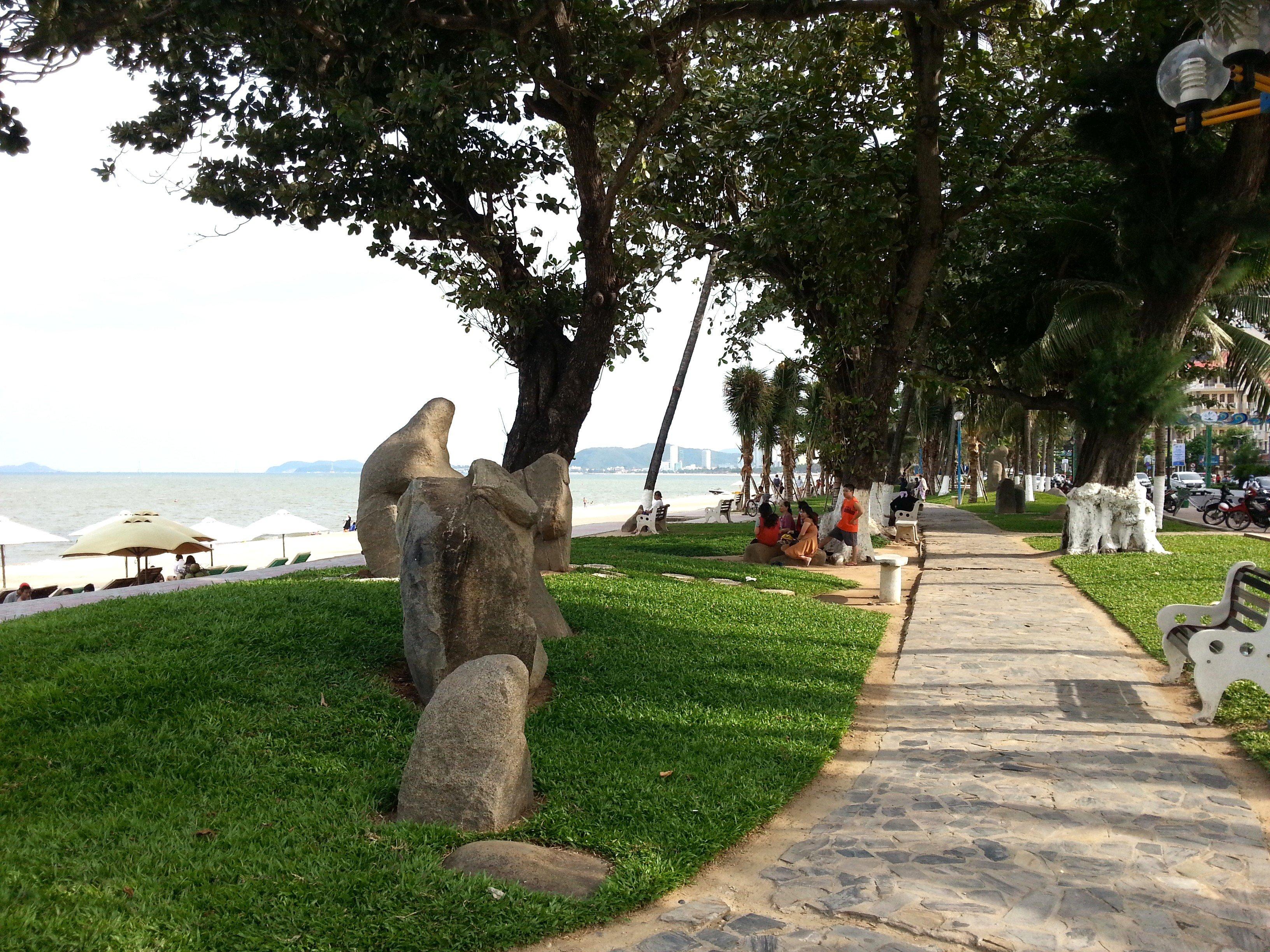 Path along Nha Trang Beach