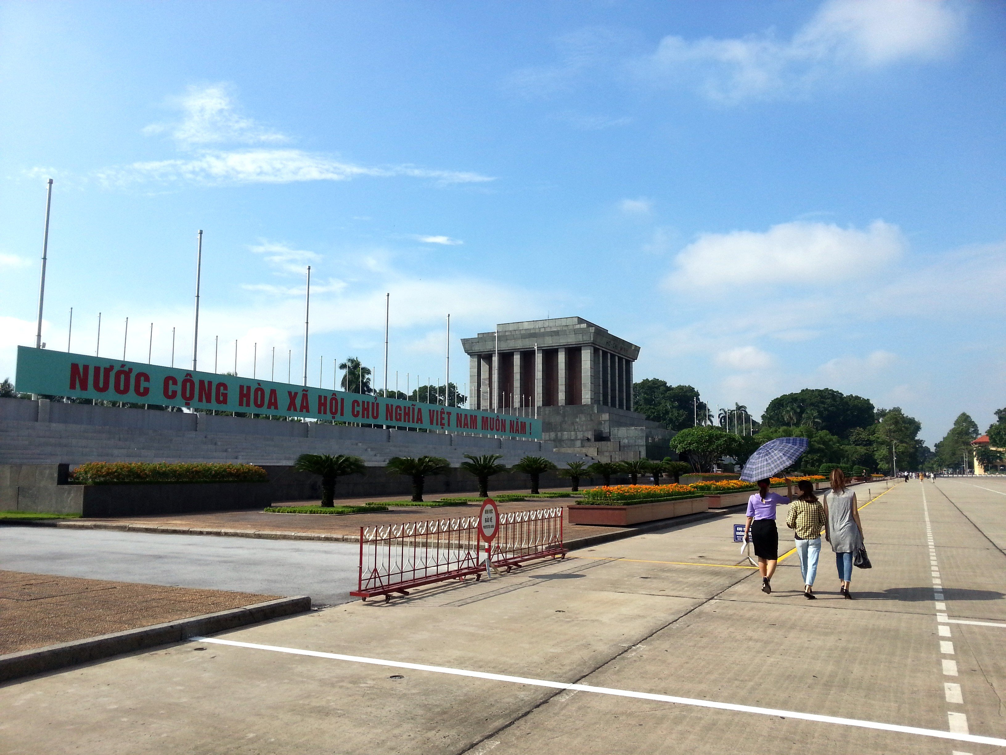 The Ho Chi Minh Mausoleum is on Ba Dinh Square