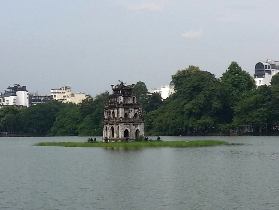 The Turtle Tower in Hanoi