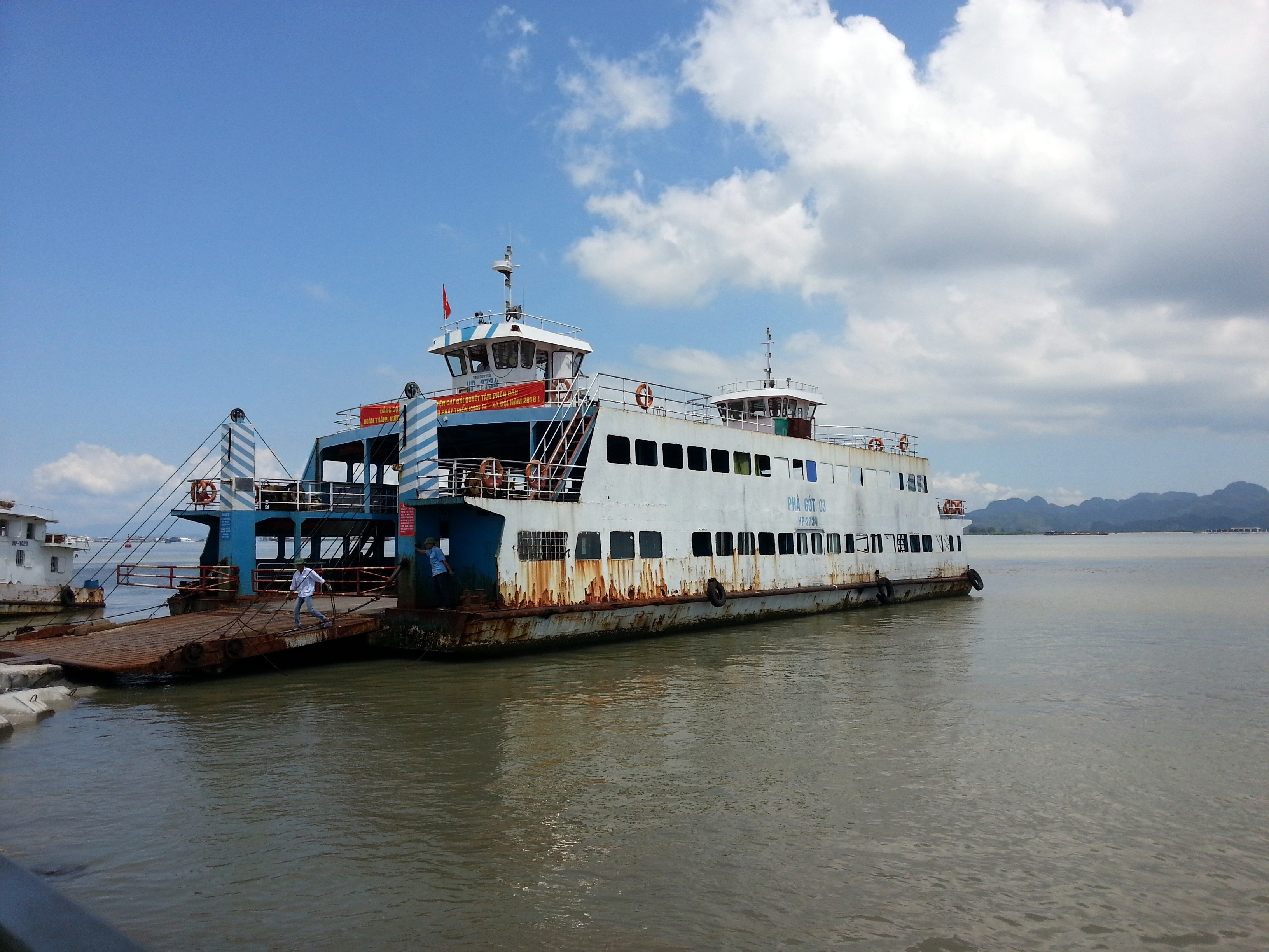 Car ferry to Cat Ba Island