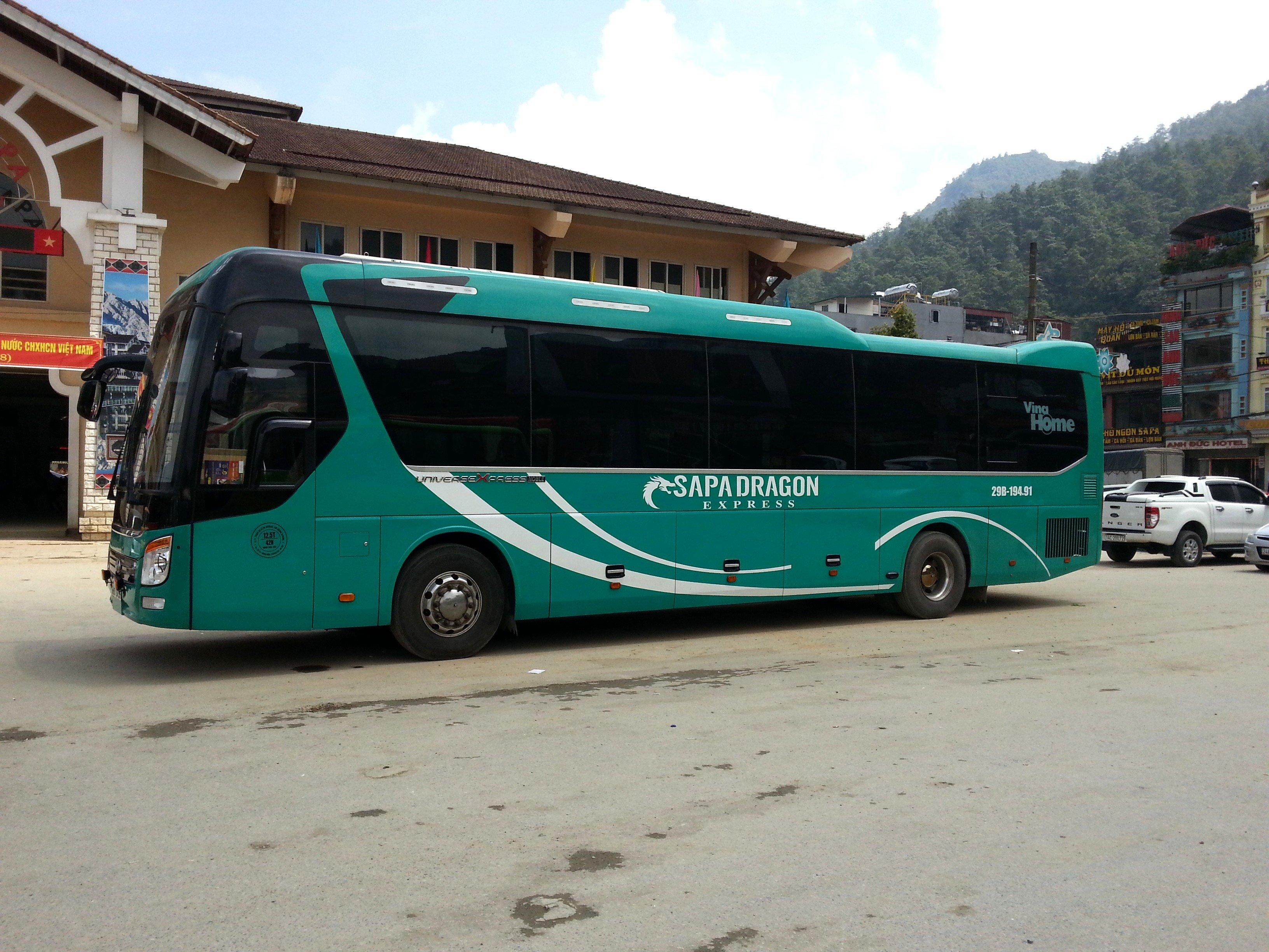 Express Bus at Sapa Bus Station